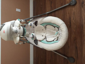 Fisher Price My Little Lamb baby swing platinum edition