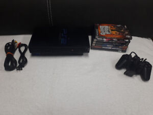 PlayStation 2 Lot, 5 Games, 2 Controllers, Memory