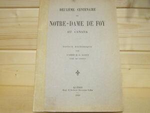 DEUXIÈME CENTENAIRE DE NOTRE-DAME DE FOY par H.-A. SCOTT