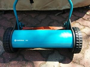 Manual Lawn Mower, catch bag + sharpening kit, very good cond.