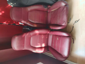 NA Miata red leather seats fits 1990 to 2005 mgb