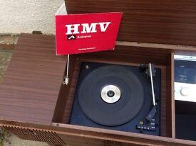 Retro vintage antique record player