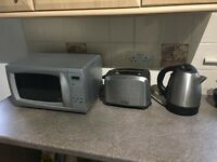 Microwave toaster and kettle set