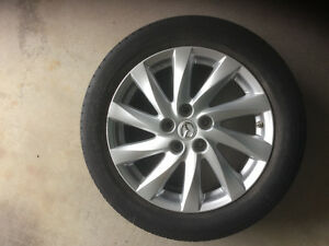4 Alloy Rims with Michelin tires for Mazda 6