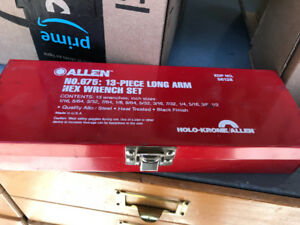 ALLEN BRAND LONG ARM HEX WRENCH SET