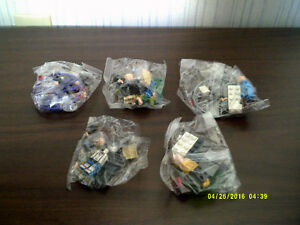 LEGO-COMPATIBLE: 5 MINI-FIGURES + ACCESSORIES: $3 EACH - NEW!!!