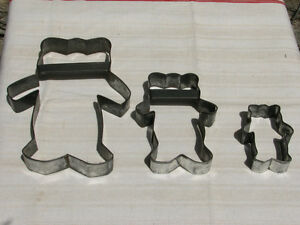 Vintage Tin / Metal Cookie Cutter Set, The Three Bears Kitchener / Waterloo Kitchener Area image 1
