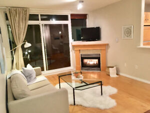 Furnished Kitsilano 1 Bed with large private patio