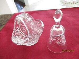 Pin Wheel Pattern  Crystal Bell & Candy Dish