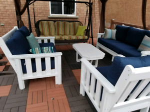 CR plastic Stratford recycled plastic patio set