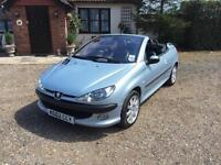 Peugeot 206cc 2.0 16v Coupe Cabriolet SE 80,000 miles Full leather!