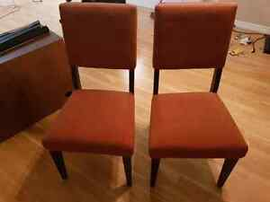 Matching dining chairs