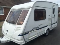 2 berth Sterling Europa 390. 2004 model with full awning and inner tent and lots of extras