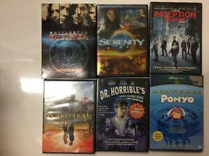 Assortment of DVDs $3 each - Inception, Princess Bride, and more