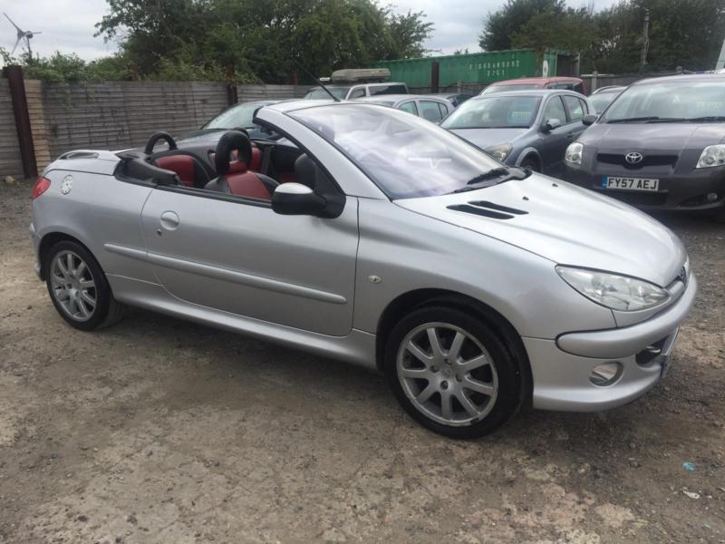 peugeot 206 1 6 16v 2006 coupe convertible petrol manual. Black Bedroom Furniture Sets. Home Design Ideas
