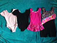 gymnastics/dance leotards & shorts