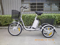 250W Electric Lithium Powered Tricycle Bike
