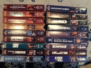 James Bond, Starship Troopers VHS collection and others
