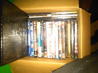 Box of DVD including Scarface Box Set