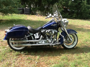 Softail Deluxe Low 24 inch seat Over 10k in added chrome