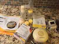 Medela swing breast pump and Bebe nursing cover