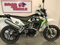 New 2020 Sinnis Apache SM 125 Fourstroke Supermoto Black and Green
