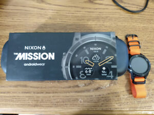 (Like New In Box) NIXON The Mission Smartwatch + Extras