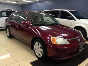 2002 Honda Civic 1.7L *PIRELLIS, 5SPD, CERTIFIED, RUNSLIKENEW*