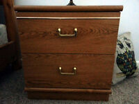 Bedside table/night stand -- 2 drawer