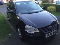 Vw polo 1.2 3dr black 2006 hpi clear