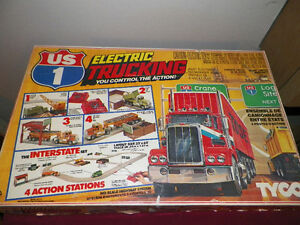 Complete 1981 Tyco US1 Trucking Slot Car Track and More...
