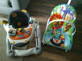 Immaculate 2 in 1 walker along with chair also bath