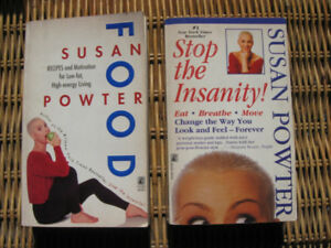 Lot 2 books Susan POWTER: STOP the INSANITY & FOOD 5/10$