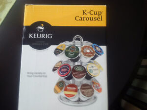 NEW Keurig K-cup Carousel for 27 cups in Chrome colour