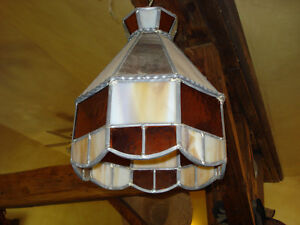 Vintage, Stained Glass Hanging Lamp Shade