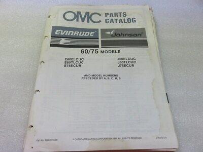 PM64 1987 OMC Evinrude Johnson 60/75 Models OEM Parts Catalog Manual P/N 398626