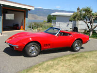 Classic C3 Rally Red 1968 Corvette Roadster