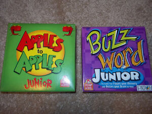 2 Wendy's travel size Junior games- Apples to Apples & Buzzword