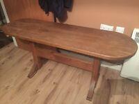 Solid oak coffee/hall table