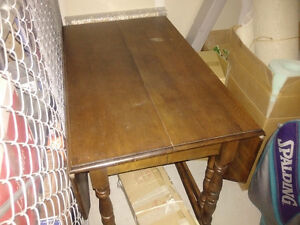 Antique Wood Table with Gable Legs Moose Jaw Regina Area image 4