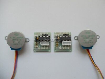 2 Pack Dc 5v Stepper Motor 28byj-48 Uln2003 Driver Test Module For Arduino N98
