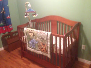 Wooden Convertible Crib