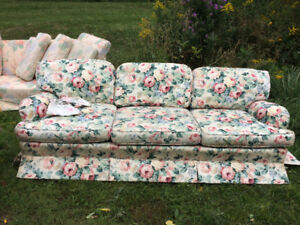 Curb alert! Floral couch.