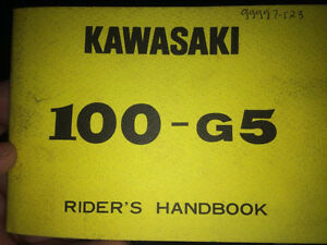1972 Kawasaki G5 100 Riders Manual