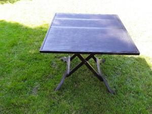 antique games/card table