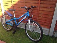 "Boys blue Bike 24"" wheels"