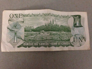 1973 one dollar bank note