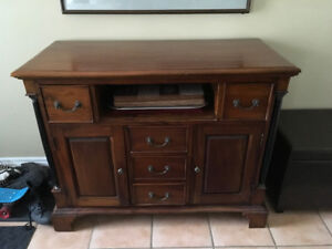 Lovely solid wood cabinet with vintage details