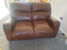G Plan 2 Seater Leather Sofa