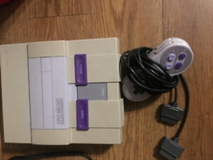 Super Nintendo with 3 games